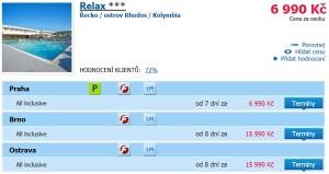 Rhodos + all inclusive + last minute = zájezd za 6 990 Kč